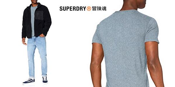 Camiseta de manga corta Superdry OL Vintage Emb tee para hombre chollo en Amazon