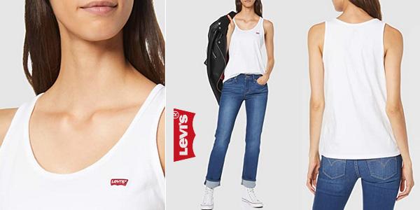Camiseta de tirantes Levi's Essential Tank para mujer barata en Amazon