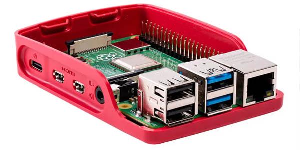 Raspberry Pi con carcasa oficial