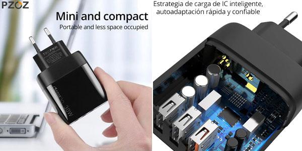 Cargador USB PZOZ de carga rápida oferta en AliExpress