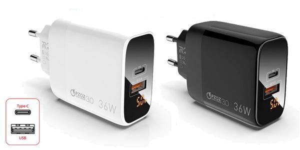 Cargador USB PZOZ de carga rápida barato en AliExpress