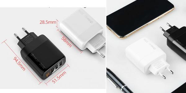 Cargador USB PZOZ de carga rápida chollo en AliExpress