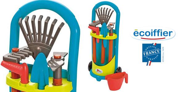 Carrito de jardinero Ecoiffier con 5 herramientas para niños barato en Amazon