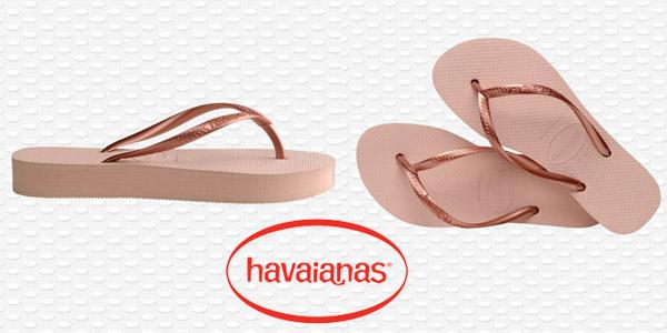 Chanclas Havaianas Slim Flatform para mujer baratas en Amazon