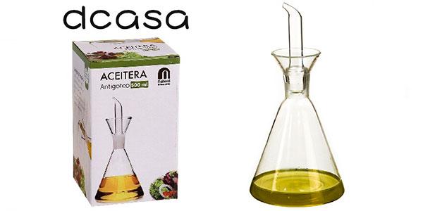 Chollo Aceitera D'Casa antigoteo de cristal de 500 ml