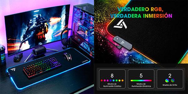 Chollo Alfombrilla de ratón RGB gaming VicTsing