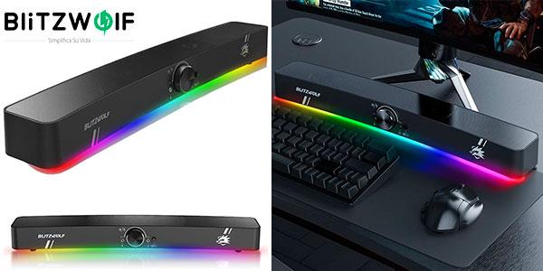 Chollo Barra de sonido BlitzWolf BW-GS3 para PC con iluminación LED