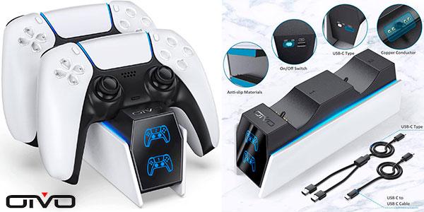 Chollo Base de carga Oivo para mandos de PS5