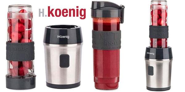 Chollo Batidora de vaso H.Koenig SMOO9 de 300 W y 2 botellas de 570 ml