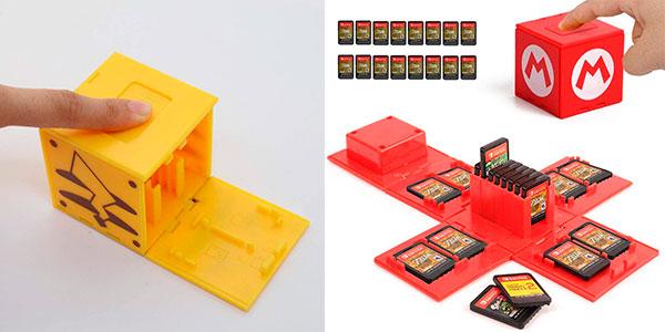 Chollo Caja Kueen funda para guardar 16 juegos de Switch en varios modelos