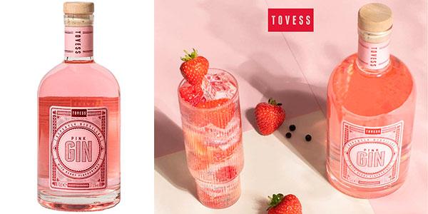 Chollo Ginebra rosa Tovess Pink de 700 ml