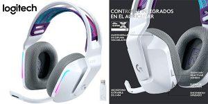 Chollo Auriculares gaming Logitech G733 inalámbricos con micrófono