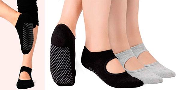 Chollo Pack de 2 pares de calcetines de yoga Tusscle