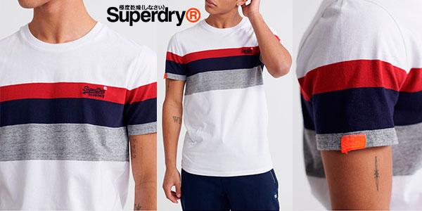 Chollo Camiseta Superdry Orange Label de franjas para hombre