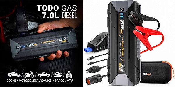 Chollo Arrancador de baterías Tacklife KP200 de 2.000 A con luz LED y carga rápida