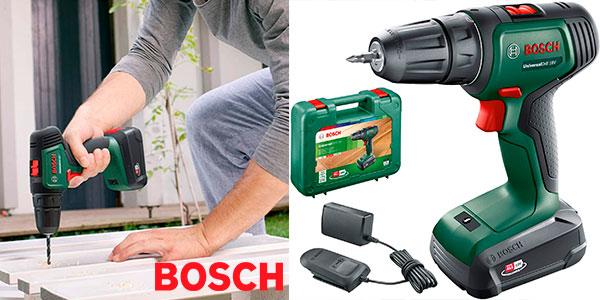 Chollo Taladro atornillador Bosch UniversalDrill 18 con batería y maletín