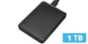 Disco duro externo portátil de 1 TB