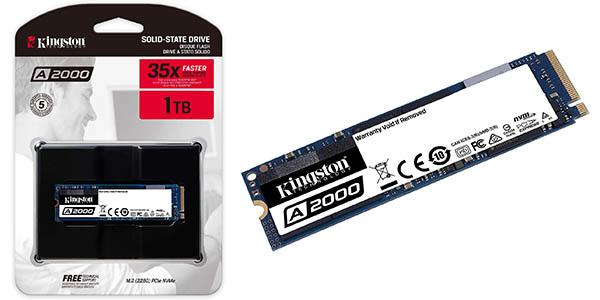 Disco SSD Kingston A2000 NVMe PCIe M.2 (2280) de 1 TB
