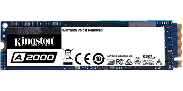 Disco SSD Kingston A2000 NVMe PCIe M.2 (2280) de 1 TB barato