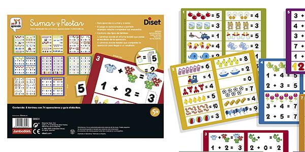 Diset Sumar Restar juego educativo infantil oferta
