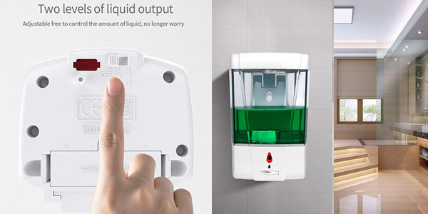 Dispensador automático de jabón Accede para montaje en pared de 700 ml oferta en Amazon