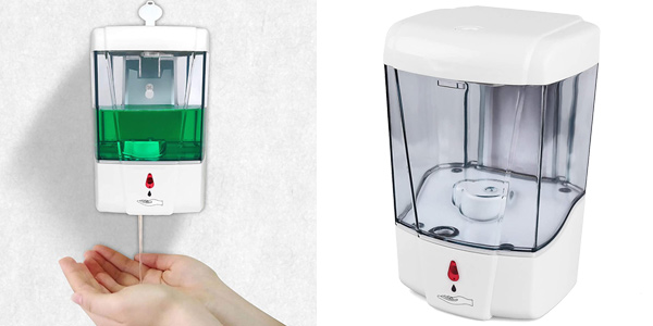 Dispensador automático de jabón Accede para montaje en pared de 700 ml barato en Amazon