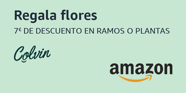 flores Colvin promoción Amazon