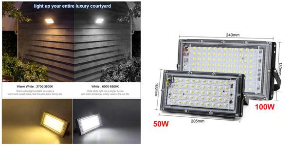 Foco LED exterior de 50W Parkson con IP65 barato en AliExpress