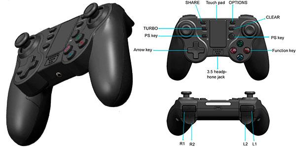 Gamepad Pro Kingear inalámbrico para PS4 barato