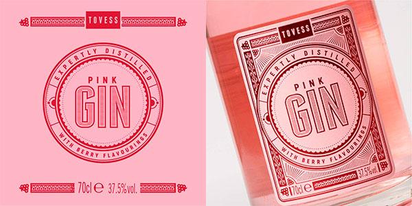 Ginebra rosa Tovess Pink de 700 ml barata