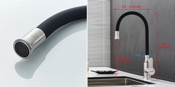 Grifo de cocina Ibergrif M22119-2 con caño flexible barato en Amazon
