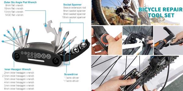 Herramienta multifunción para bicicleta chollo en AliExpress