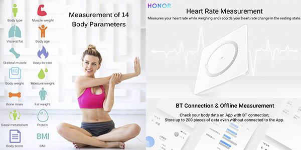 Honor Scale 2 báscula inteligente medición precisa chollo