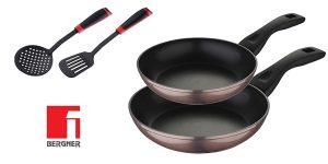 Juego de 2 sartenes de 20 y 24cm Bergner PK1933 + 2 Utensilios de cocina de regalo barato en Amazon
