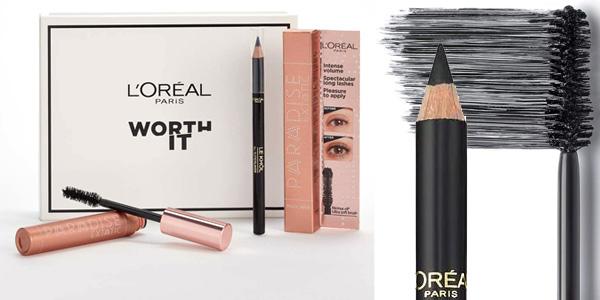 Kit L'Oréal Paris Worth It con máscara de pestañas + eyeliner barato en Amazon