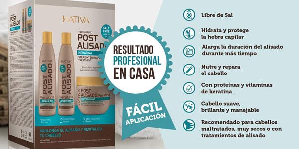 Kit Mantenimiento Post Alisado Kativa oferta en Amazon