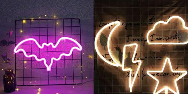 Lámparas LED de pared Horsten estilo neón chollo en AliExpress