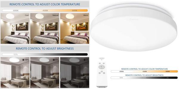 Plafón de techo LED Anten con brillo y color regulable y control remoto barato en Amazon