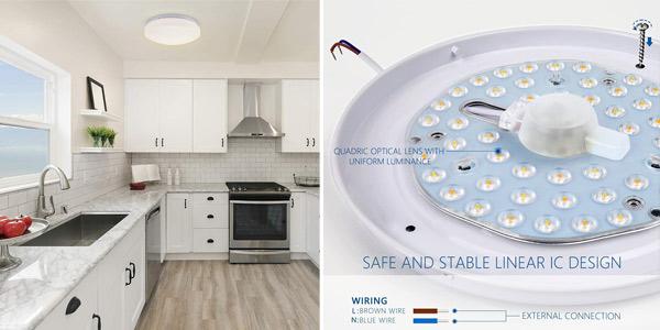 Plafón de techo LED Anten con brillo y color regulable y control remoto oferta en Amazon
