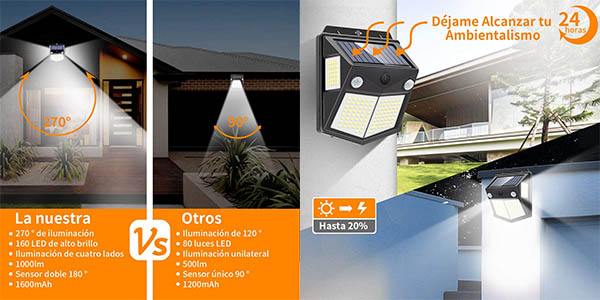 Pack x4 Luces LED solares para exteriores Mewtwo barata