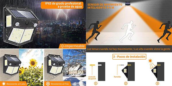 Pack x4 Luces LED solares para exteriores Mewtwo en Amazon