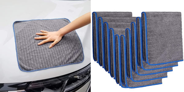 Pack x10 Toallas de microfibra Easy Eagle para secar el coche baratas en Amazon