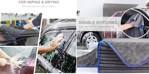 Pack x10 Toallas de microfibra Easy Eagle para secar el coche chollo en Amazon