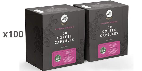 Pack x100 Cápsulas Amazon Happy Belly Select Espresso Bio barato en Amazon