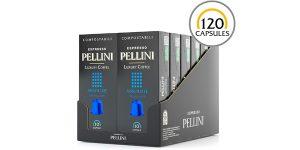 Pack x120 cápsulas de café compostables Pellini Espresso para Nespresso barato en Amazon