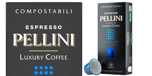 Pack x120 cápsulas de café compostables Pellini Espresso para Nespresso chollo en Amazon