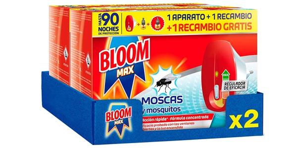 Pack 2 aparatos + 4 recambios Insecticida eléctrico líquido Bloom Max contra moscas y mosquitos barato en Amazon