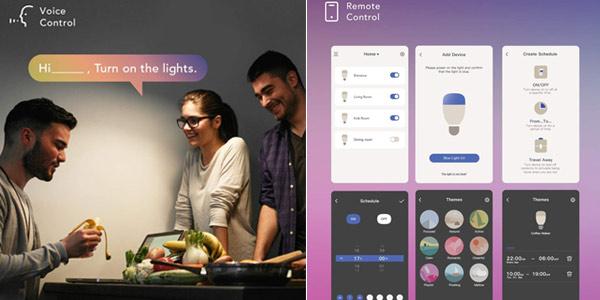 Pack x2 Bombillas LED inteligentes Nooie chollo en Amazon