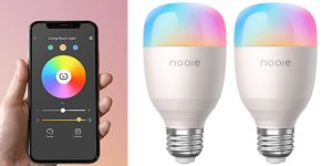 Pack x2 Bombillas LED inteligentes Nooie baratas en Amazon