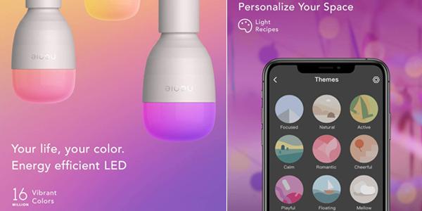 Pack x2 Bombillas LED inteligentes Nooie oferta en Amazon